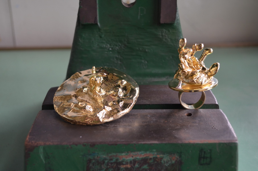 2. Leaking serbia, jewelry collection, made in Residency at closed Majdanpek factory in Serbia.