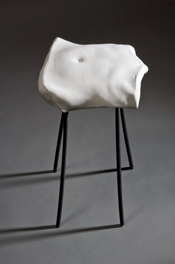 6.Chair, Interior Accesoires, 2011 casted porcelain, applied ceramic sculpture, Keramikmuseum Westerwald, Germany